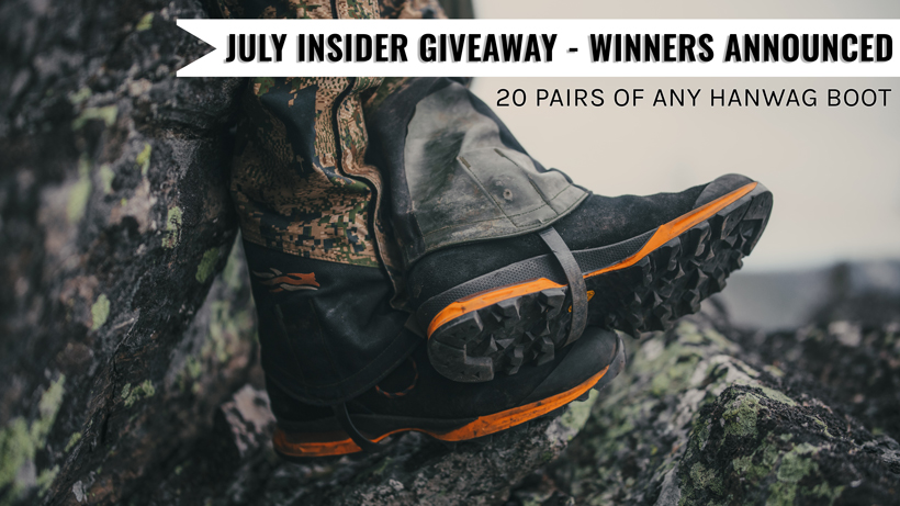 July INSIDER Giveaway - Winners Announced