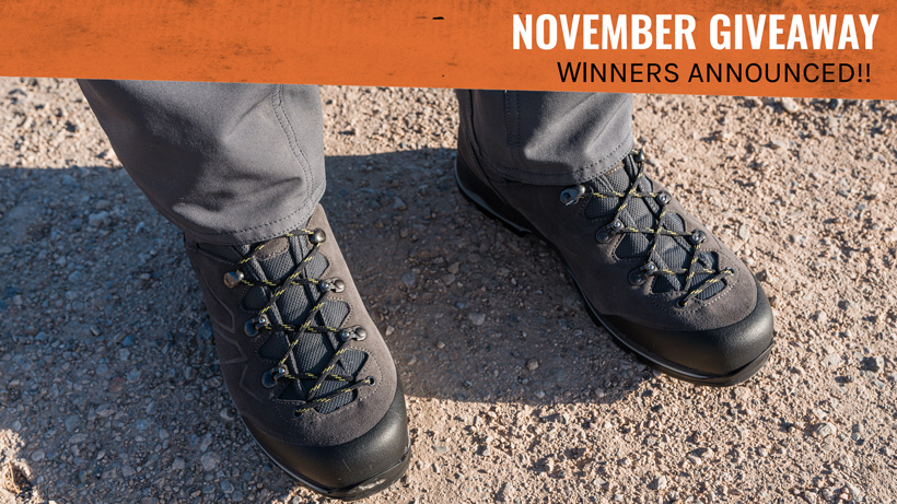 Lowa Baldo GTX Boot Winners Announced!!