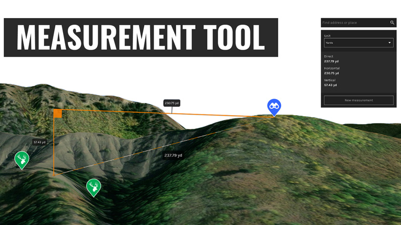 goHUNT MAPS: How to use the measurement tool