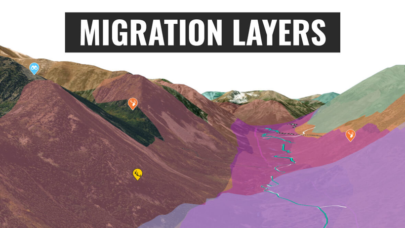 Using goHUNT Maps species distribution layers for Colorado elk and deer