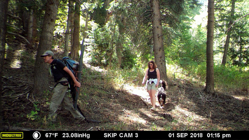 Couple on trail camera stealing hunting gear