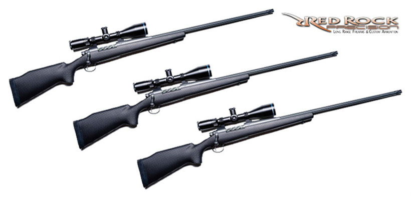 P2PX Extreme Range Magnum Red Rock Precision custom rifles with Huskemaw 5x20x50 Blue Diamond scope