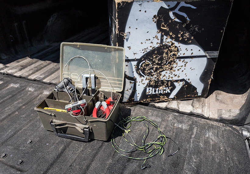 Bow repair kit at the truck