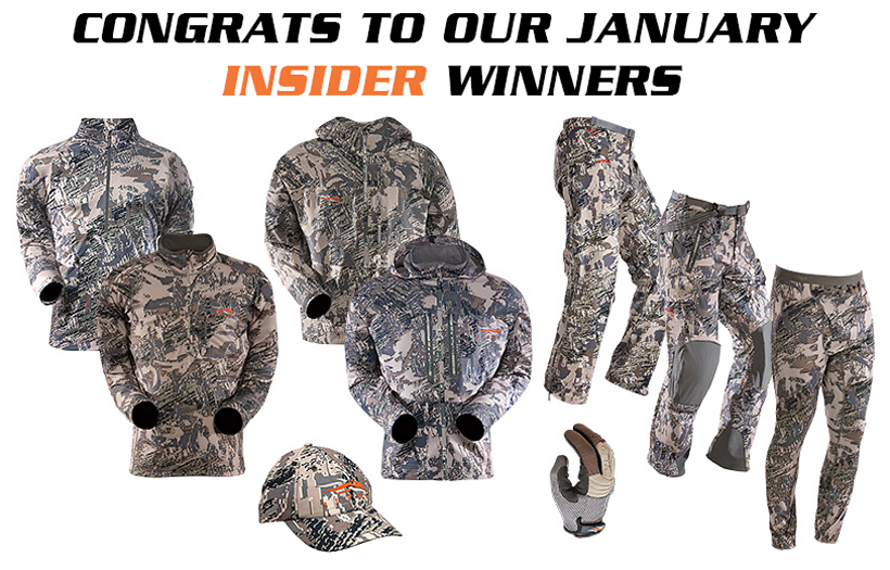 January INSIDER Sitka Gear winners