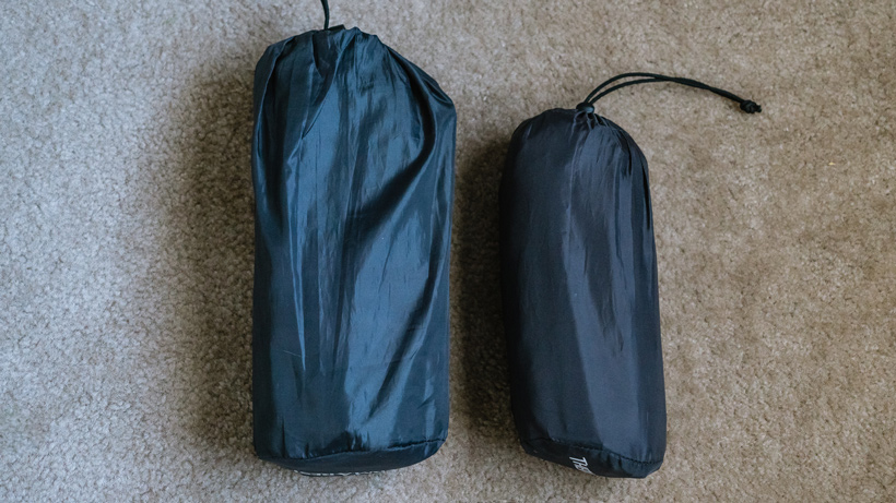 Difference in sleeping pad sizes