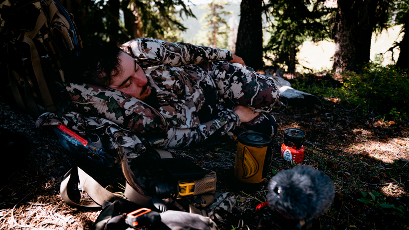 Mid-day snooze in the backcountry