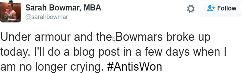 Tweet from Bowmar