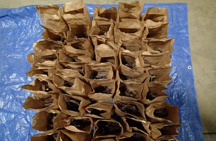 Some of the packages of meat seized by UFW