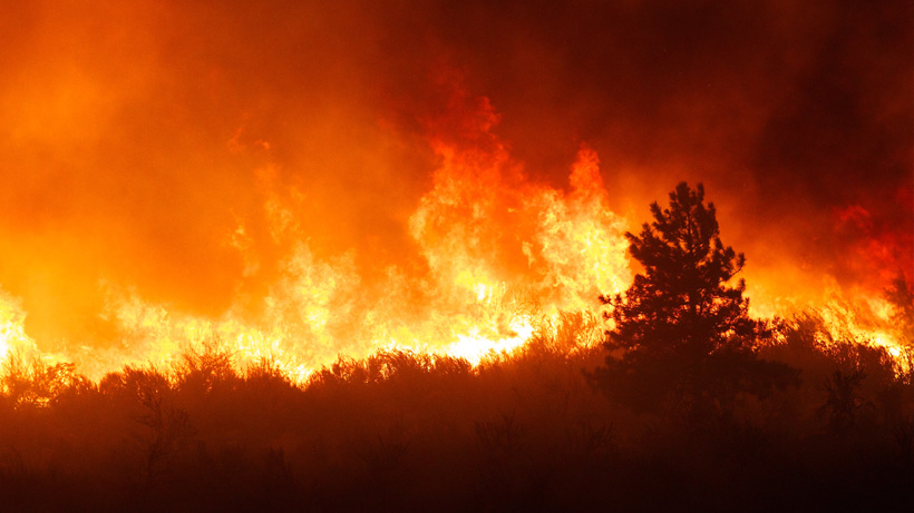 An estimate ten wildfires continue to burn across northern and central Utah