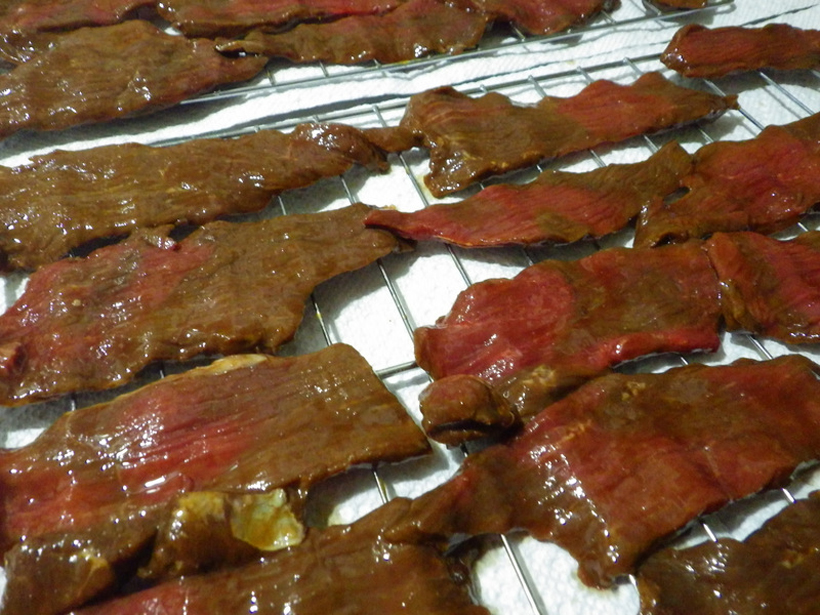Whitetail jerky from the buck