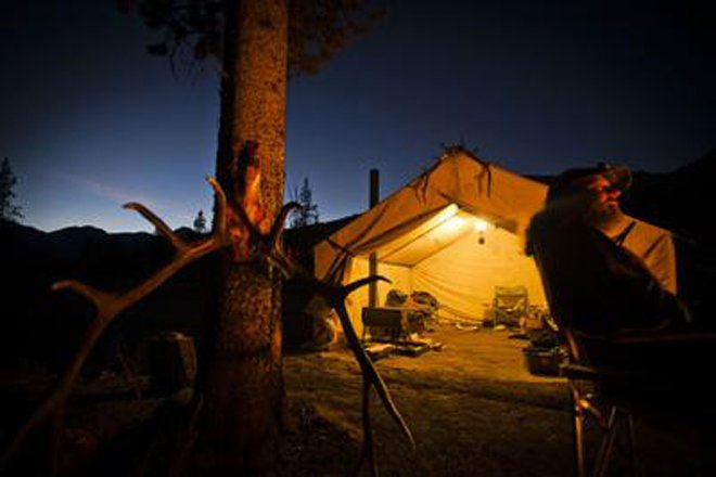 Photo credit Jed Conklin & Hunting camps: glowing tent photos | goHUNT