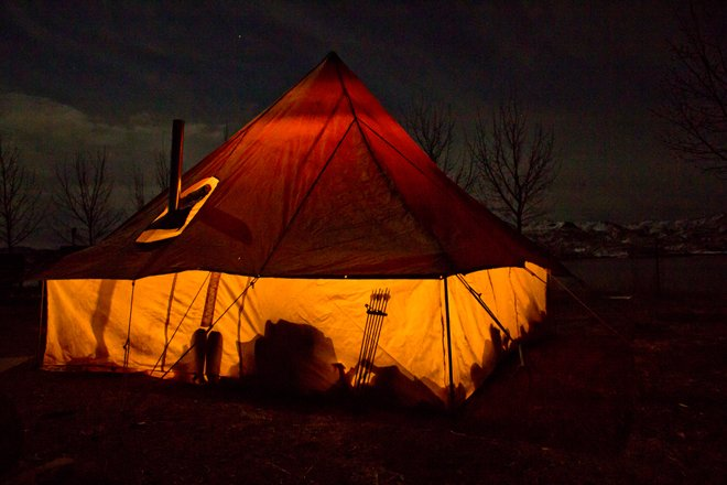 Photo credit Brady Miller & Hunting camps: glowing tent photos | goHUNT