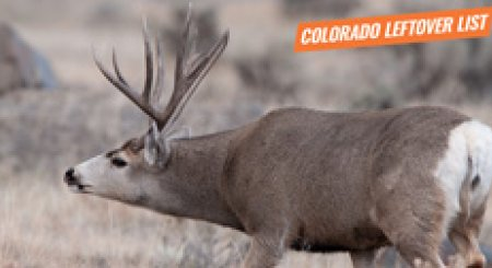 2018 Colorado leftover hunting tag list