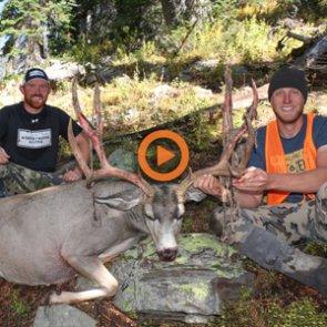 Three friends pursue high country mule deer in Wyoming