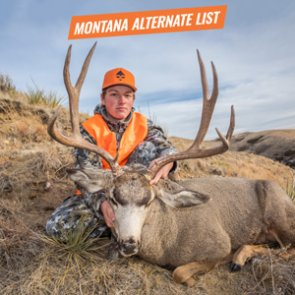 2018 Montana alternate list for deer and big game combo licenses