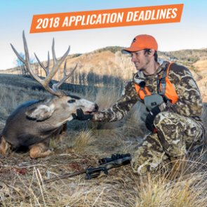 2018 western hunting application deadlines