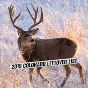 2019 Colorado leftover hunting license list now available