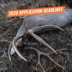 2020 Western Big Game Hunting Application Deadlines