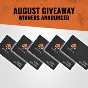 5 people just won a $1,000 Gear Shop gift card in our August INSIDER giveaway