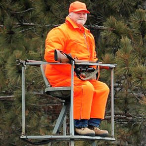 Pumpkins and hunters - taking blaze orange to the extreme
