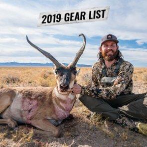 Brady Miller's 2019 Nevada antelope gear list