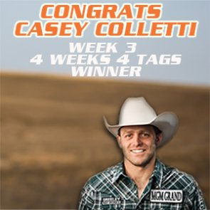 Congrats to Casey Colletti - Week 3 winner