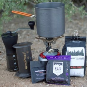 Three options for making coffee in the backcountry