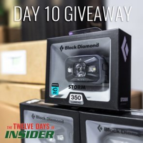 The 12 Days of INSIDER giveaway: Ten Black Diamond Storm Headlamps