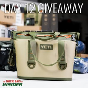 The 12 Days of INSIDER giveaway: 12 YETI Hopper Two 20 Coolers