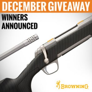 4 people just won a Browning X-Bolt Long Range Hunter rifle