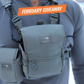 The February INSIDER Giveaway is here! 40 Marsupial Gear Bino Packs