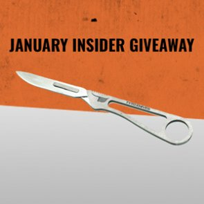 January INSIDER Giveaway - 10 Tyto Finisher Ti Knives