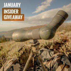 January INSIDER giveaway: 3 Vortex Razor HD spotting scopes