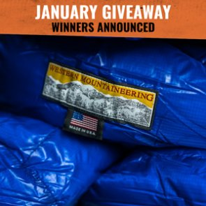January giveaway winners announced: 6 people won Western Mountaineering Sleeping Bags