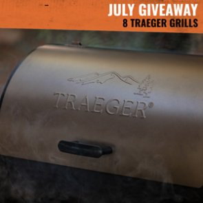 July INSIDER Giveaway: 8 Traeger Tailgater Pellet Grills