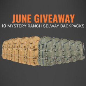 June INSIDER Giveaway: Your chance to win 1 of 10 Mystery Ranch Selway Backpacks