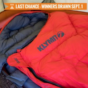 August INSIDER giveaway: 20 Klymit KSB 0° Down Sleeping Bags