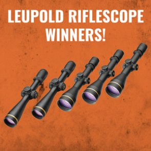 Leupold riflescope winners announced!