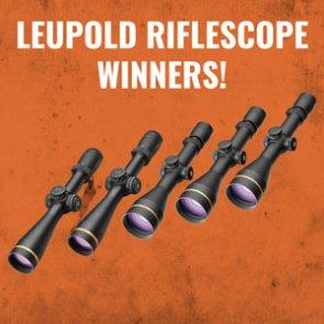 Leupold riflescope winners announced!
