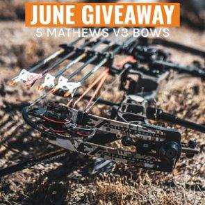 June INSIDER Giveaway: FIVE Mathews V3 Bows!
