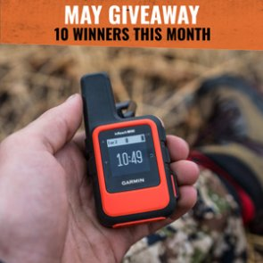 May INSIDER Giveaway: 10 Garmin inReach Mini Satellite Communicators