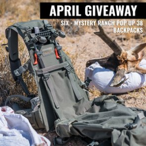 April INSIDER Giveaway: 6 Mystery Ranch Pop Up 38 Backpacks