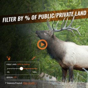 Just added - New public/private land filtering tool