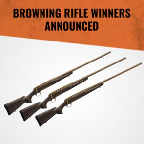 November giveaway winners announced: 3 people won Browning rifles