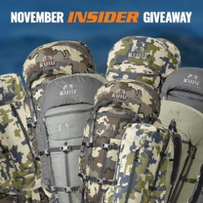 November INSIDER giveaway: 10 KUIU backpacks