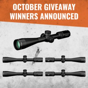 October giveaway winners announced: 5 people won Vortex riflescopes!