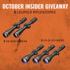 October INSIDER giveaway - 5 Leupold Riflescopes