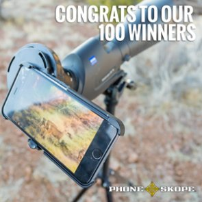 100 April Phone Skope winners