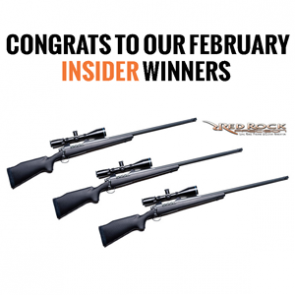 INSIDER: February's giveaway winners