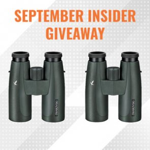 September INSIDER giveaway - Two Swarovski 10x42 SLC binoculars